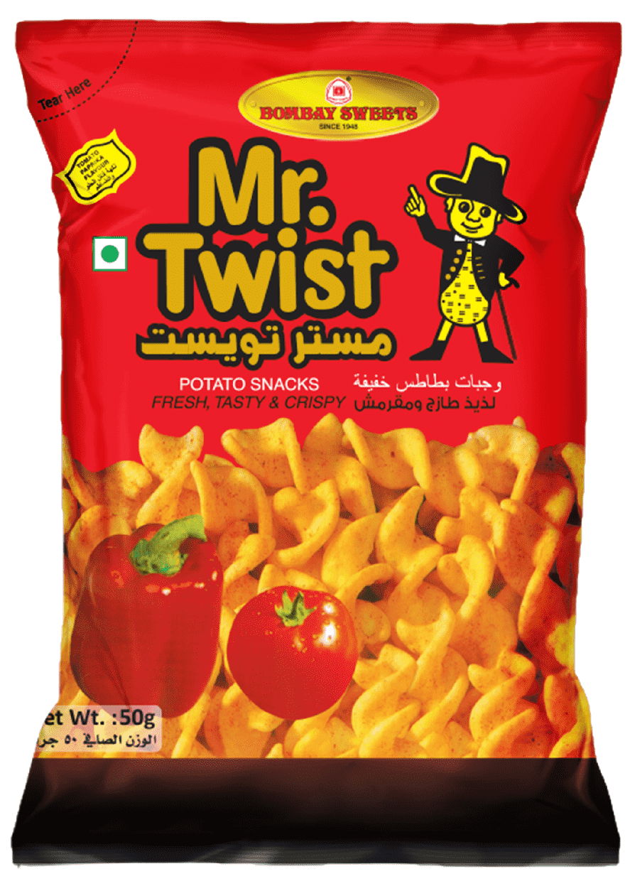 BOMBAY SWEETS MR. TWIST CHIPS - 50 GM